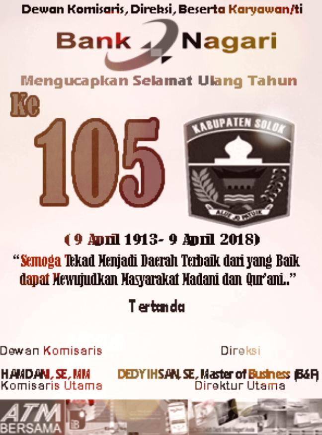 Iklan Bn Kab Solok 9 April 2018 Utusan Indo